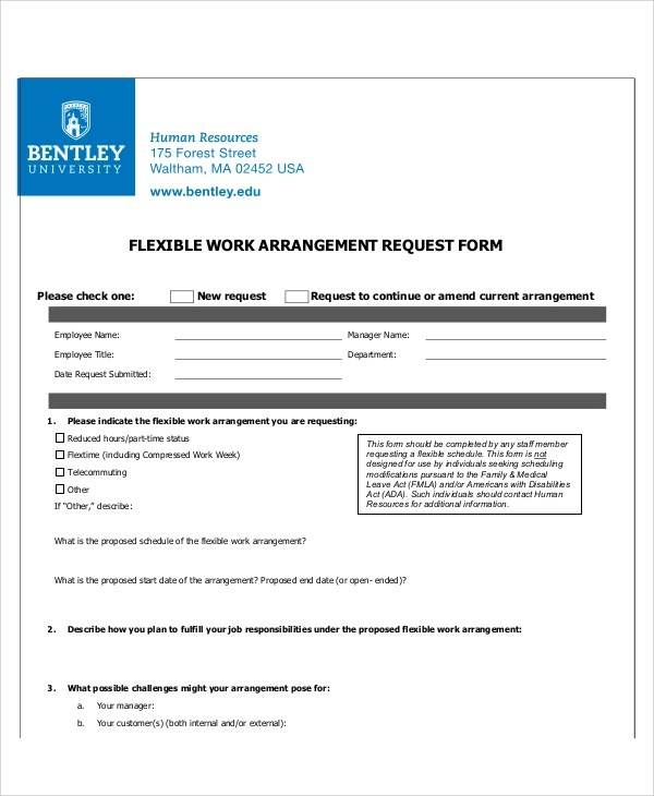 9+ Sample Work Request Forms Sample Templates