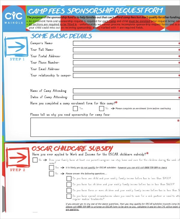Sponsorship Request Form kicksneakers - sponsorship request form