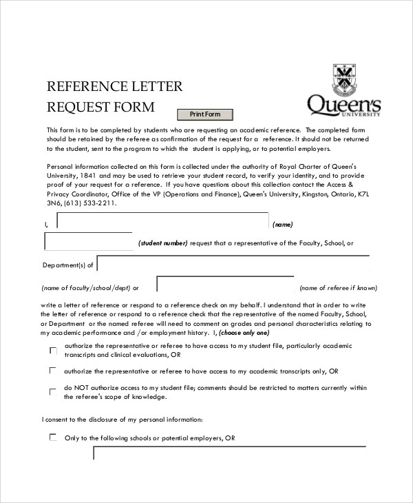 10+ Sample Letter Request Forms Sample Templates