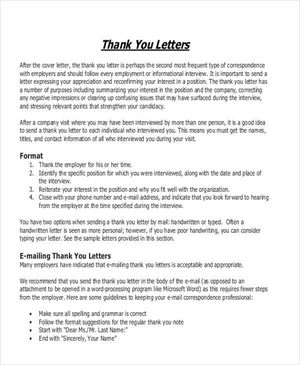 Sample Business Letter Format Example - 8+ Samples in Word, PDF
