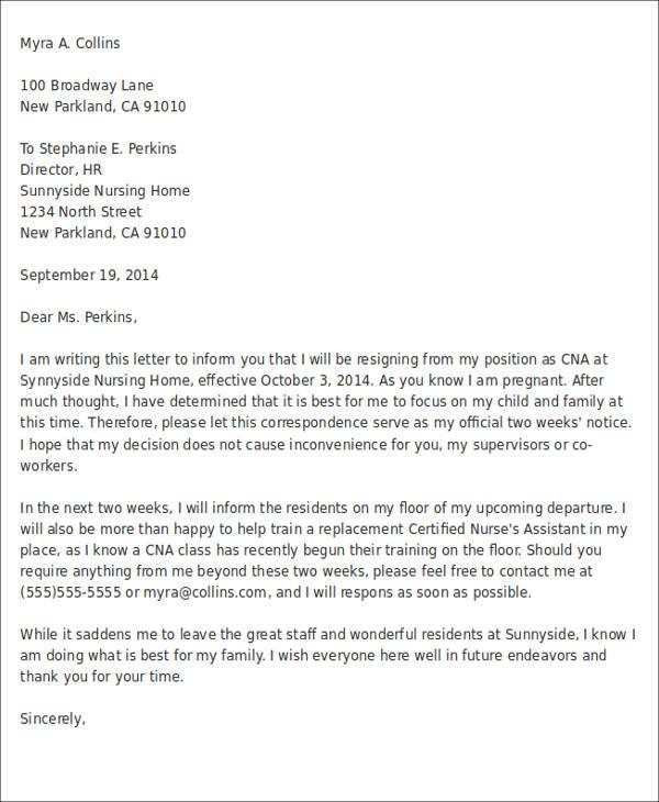 7+ Sample Immediate Resignation Letter - Free Sample, Example - sample pregnancy resignation letters