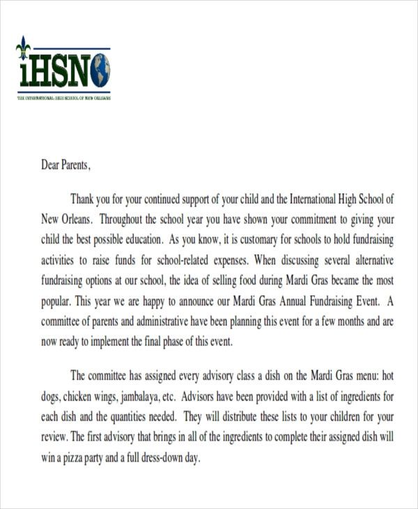 sample letter of support for parents