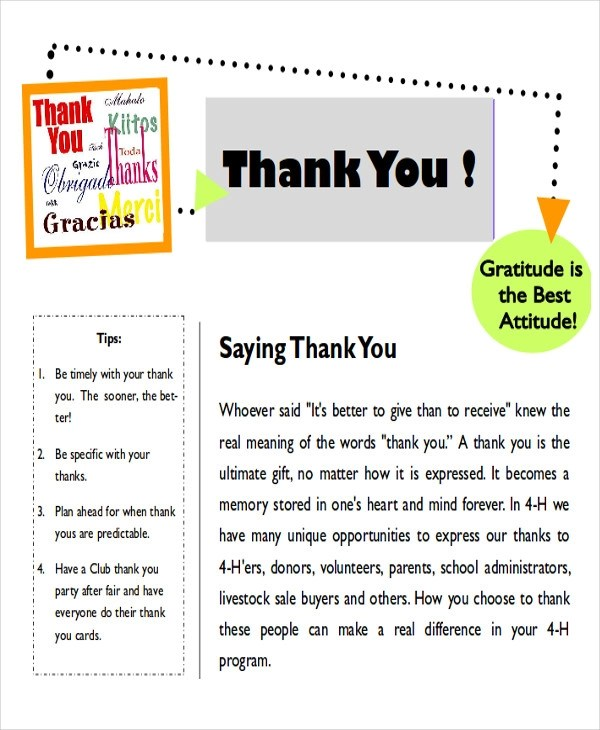 7+ Sample Thank-You Note to Parents Sample Templates
