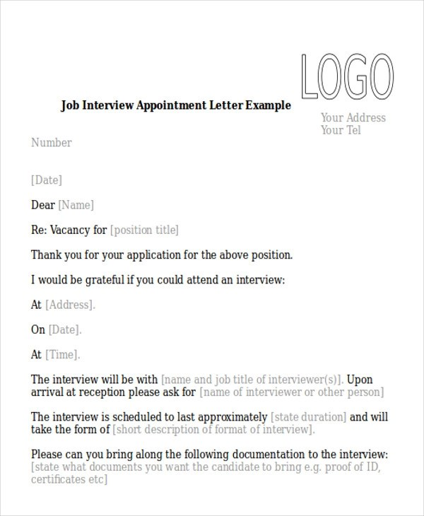 Appointment Letter Sample Doc File | Reference Letter Academic