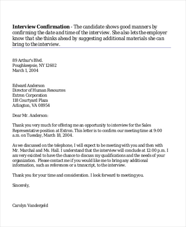 sample thank you interview letters