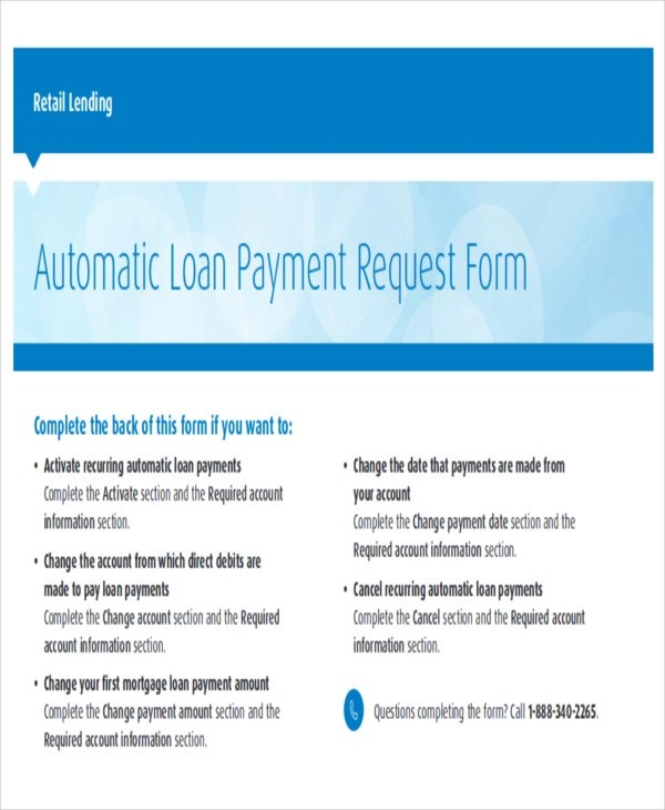 Sample Payment Request Form - 12+ Examples in Word, PDF - loan request form