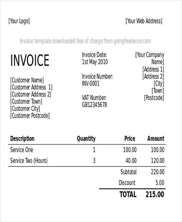 5+ Graphic Design Invoice Samples Sample Templates