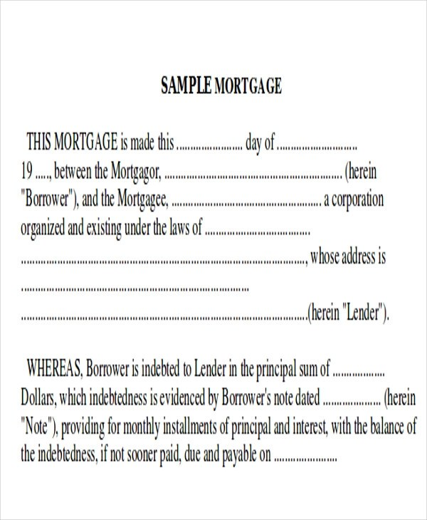 Mortgage Note Sample - 8+ Examples in Word, PDF