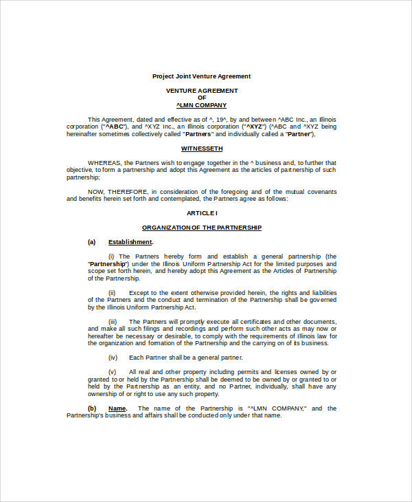 construction partnership agreement template - Alannoscrapleftbehind - Partnership Agreement Format