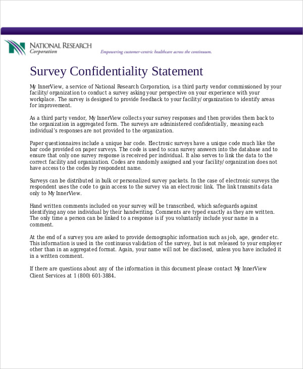 Confidentiality Agreement Template Free Sample Sample - vendor confidentiality agreement