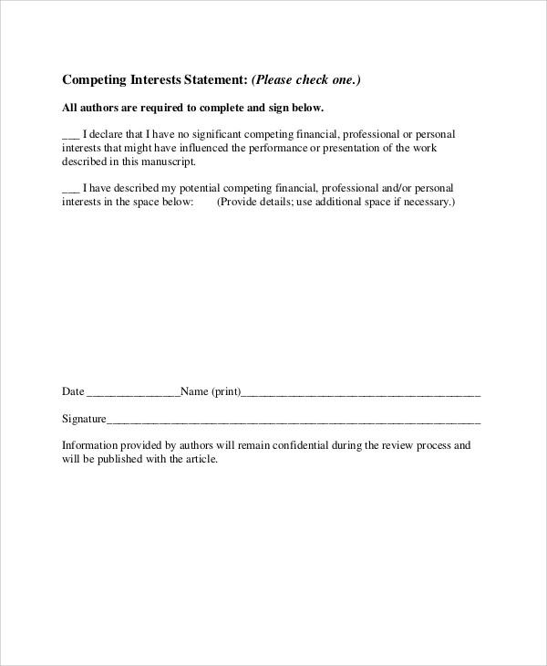 Ppt Download   Personal Interests 9+ Sample Statement Of Interest   Free  Sample, Example, Format   Personal Interests ...