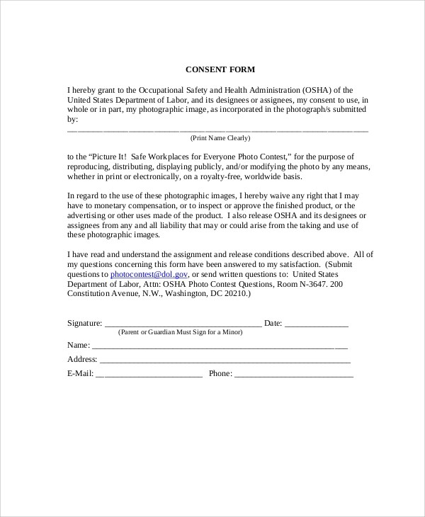 51 Sample Release Forms - generic liability waiver and release form