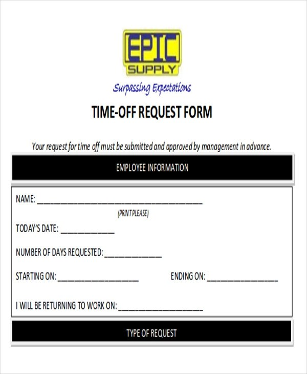 Ordinaire Request Day Off Form. Time Off Request Form In Pdf Best Resumes .  Request