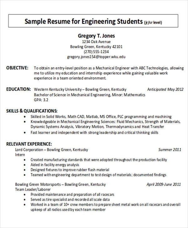 7+ Examples of Career Objective Sample Templates - career objective example for resume