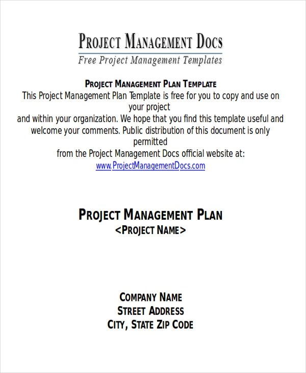 7+ Sample Project Plan Template Word Sample Templates - project plan template word doc