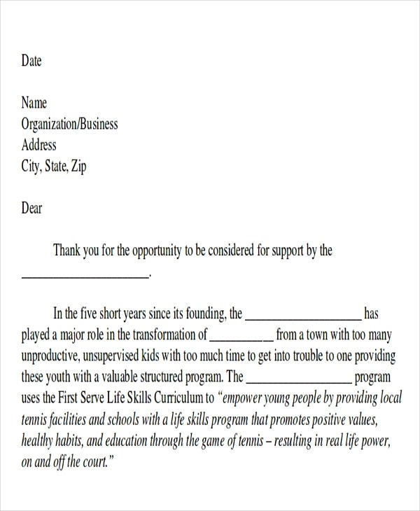 10+ Sample Event Proposal Letters - PDF, Word