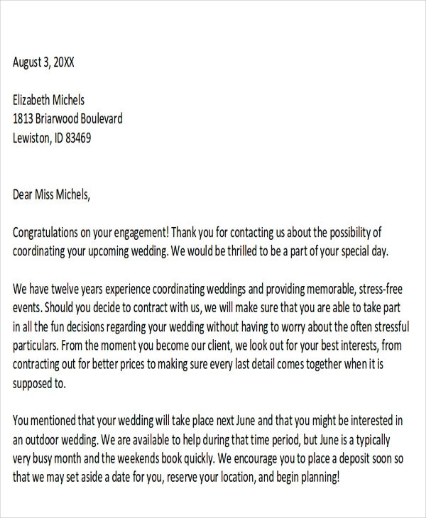 7+ Sample Event Proposal Letters \u2013 PDF, Word Sample Templates