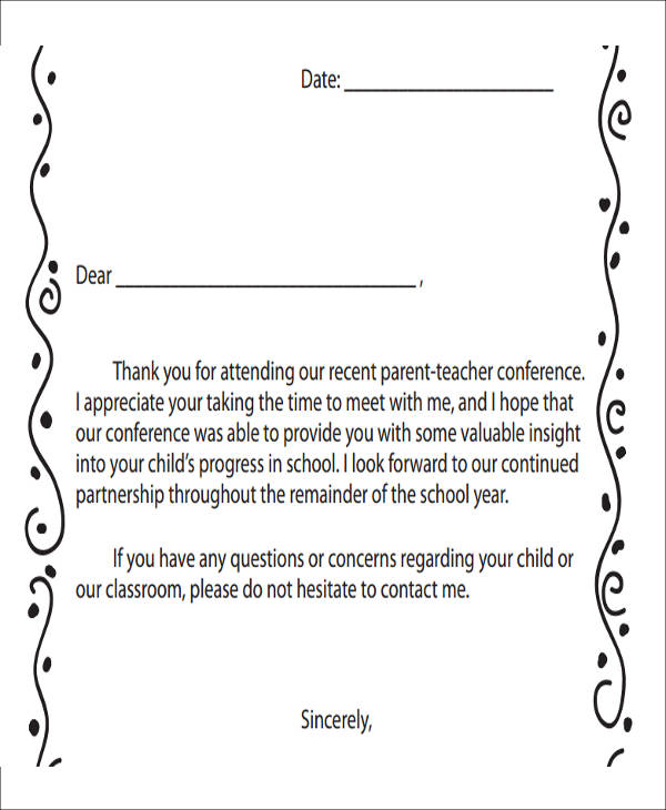 7 Sample Thank-You Notes for Meeting - 7+ Examples in Word, PDF