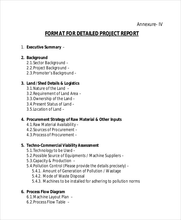 Sample Project Report - 7+ Examples in PDF, Word - executive summary format for project report