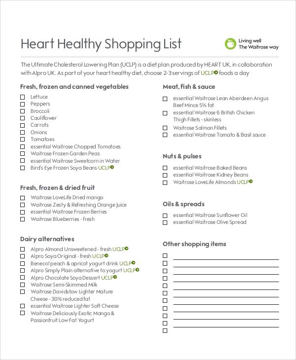 Grocery List Examples  NodeCvresumePaasproviderCom