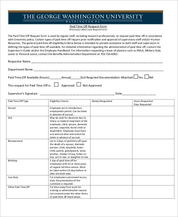 request off forms spintel - time off request forms