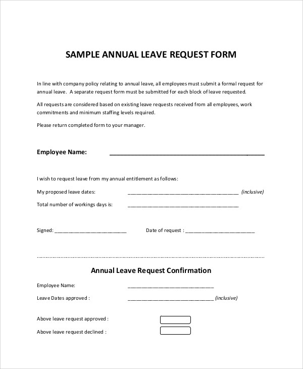 holiday leave form template – Holiday Leave Form Template