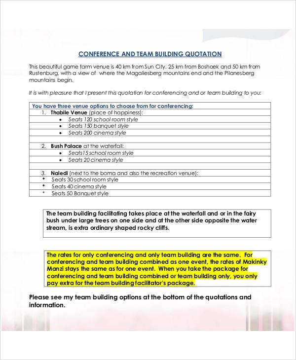 ... Engineering Quotation Sample Bank Loan Proposal Sample Business    Building Proposal Sample ...