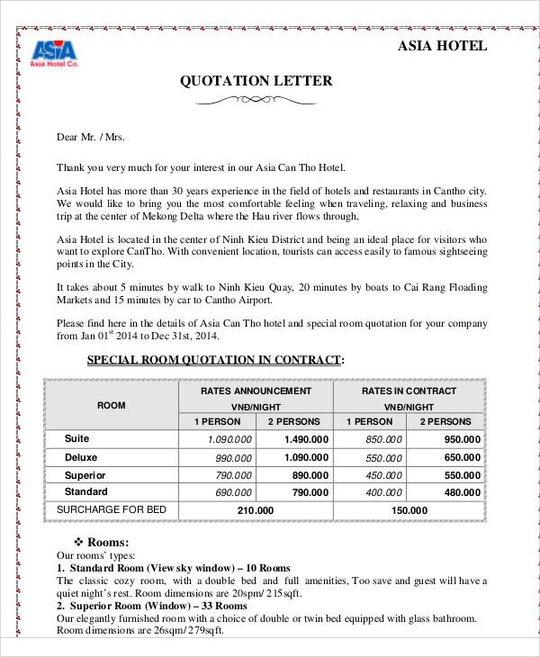 46+ Sample Quotations - Word, PDF