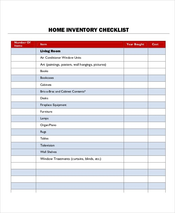 9+ Inventory List Samples Sample Templates - equipment list samples