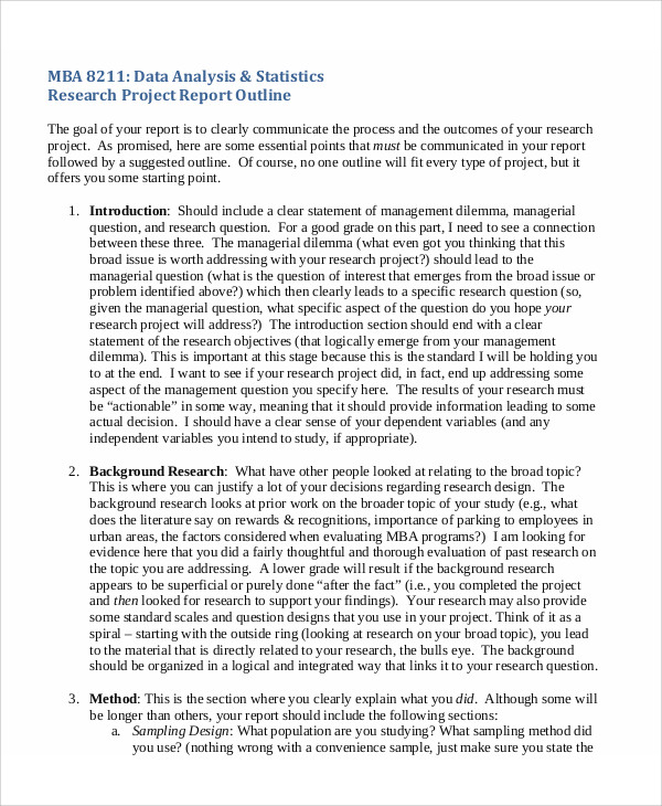 9+ Sample Research Project Reports Sample Templates