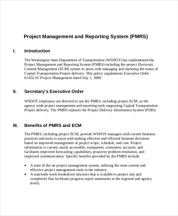 16+ Sample Project Management Reports - Word, Apple Pages