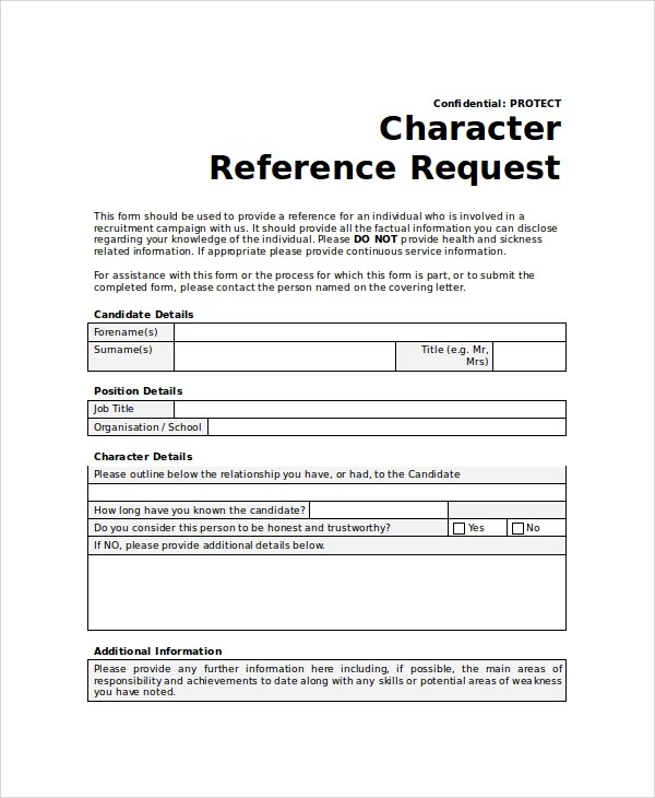 10+ Sample Reference Request Forms Sample Templates