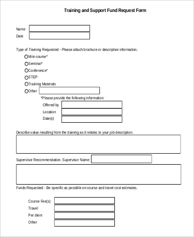 sle request form template - Teacheng - funding request form