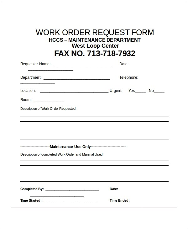 Sample Excel Request Form - 12+ Examples in Excel