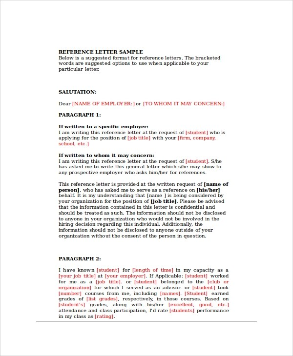 ... Sample Reference Request Letters   8+ Examples In PDF, Word   Bank Reference  Letter ...