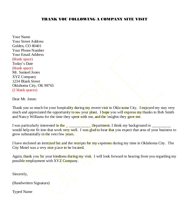 Thank You Letter Sample Nonprofit | Sample Recommendation Letter
