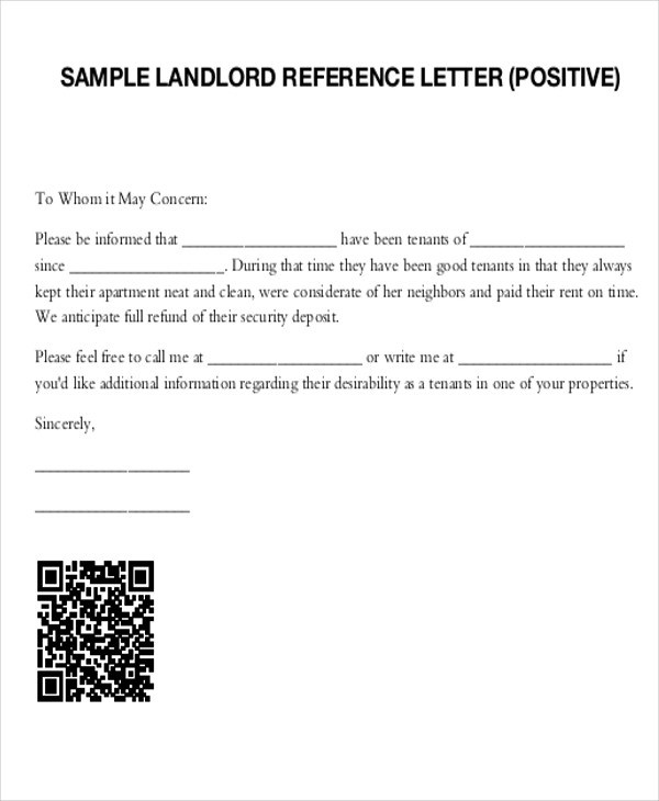 5+ Sample Tenant Recommendation Letters Sample Templates - Tenant Recommendation Letter