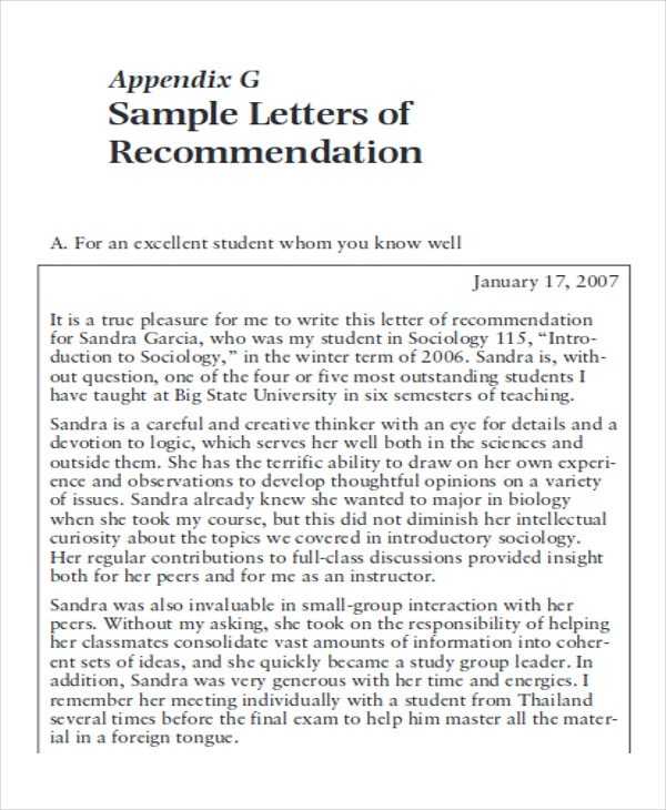 Sample School Recommendation Letter - Resume Template Sample