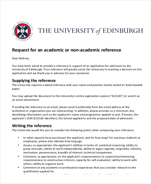 7+ Sample Reference Letter for Students Sample Templates - How To Write A Reference Letter Uk