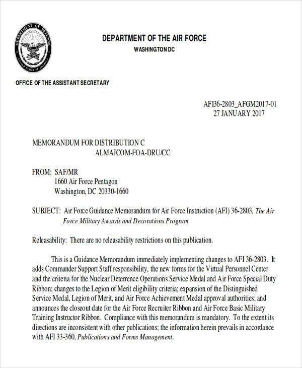 Recommendation Letter Sample Air Force | Sample Resume Objectives