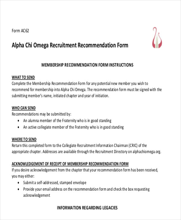 Recommendation Letter Sample Sample Character Reference Letter - formats for letters of recommendation