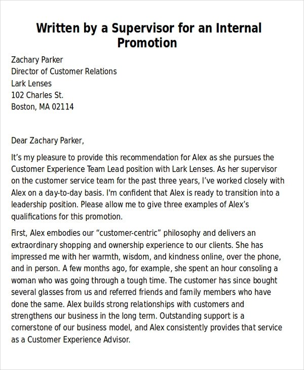 6+ Sample Coworker Recommendation Letters \u2013 PDF, Word Sample Templates - promotion recommendation letter