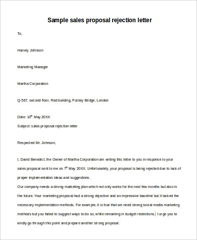 6+ Sample Sales Proposal Letters - PDF, Word