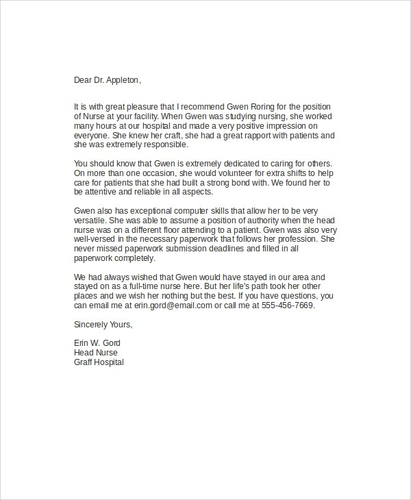 appraisal recommendation letter sample - Intoanysearch - example recommendation letter for employee