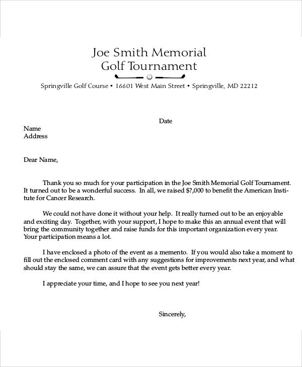 10+ Sample Sponsorship Thank-You Letter - Free Sample, Example
