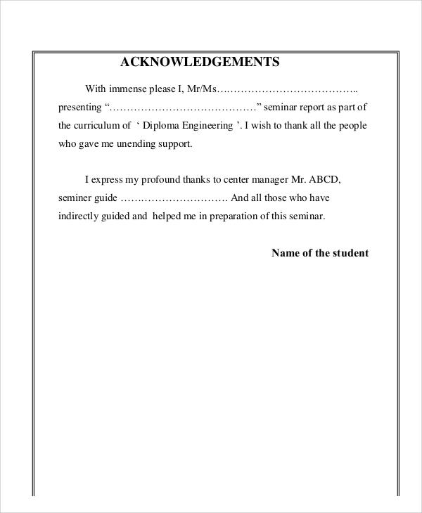 8+ Sample Acknowledgment Report - Free Sample, Example, Format Download