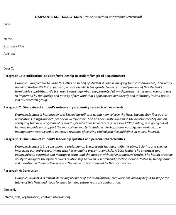 11+ Sample Leadership Recommendation Letter - Free Sample, Example