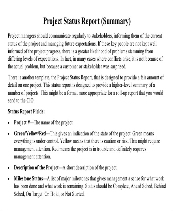 25+ Sample Project Reports - Free Sample, Example, Format Download
