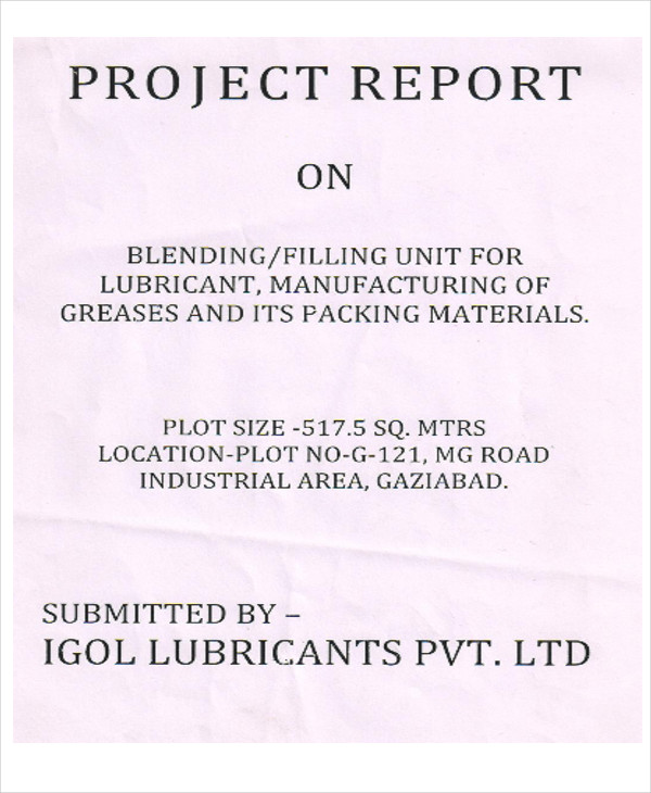 manufacturing project report sample - Minimfagency