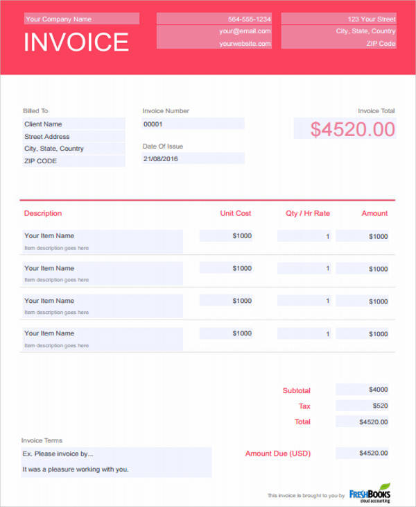 6+ DJ Invoice Samples - Examples in PDF, Word